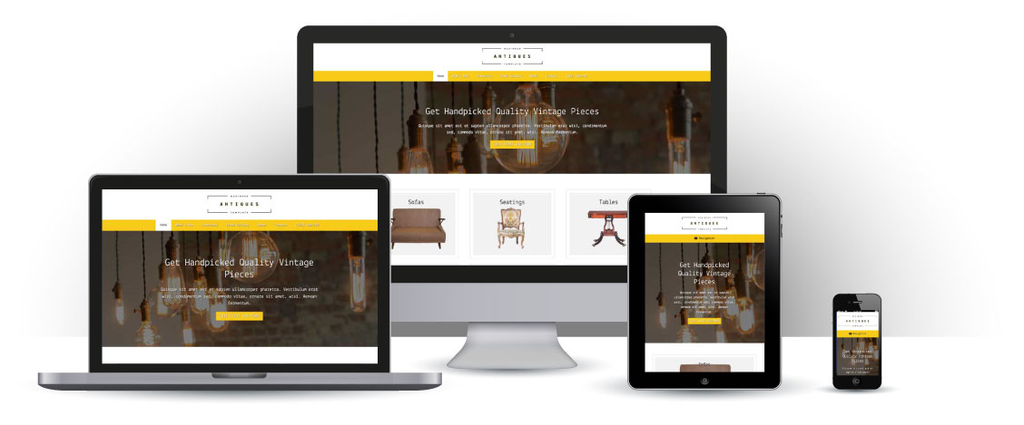 mobile responsive Antiques WordPress Theme