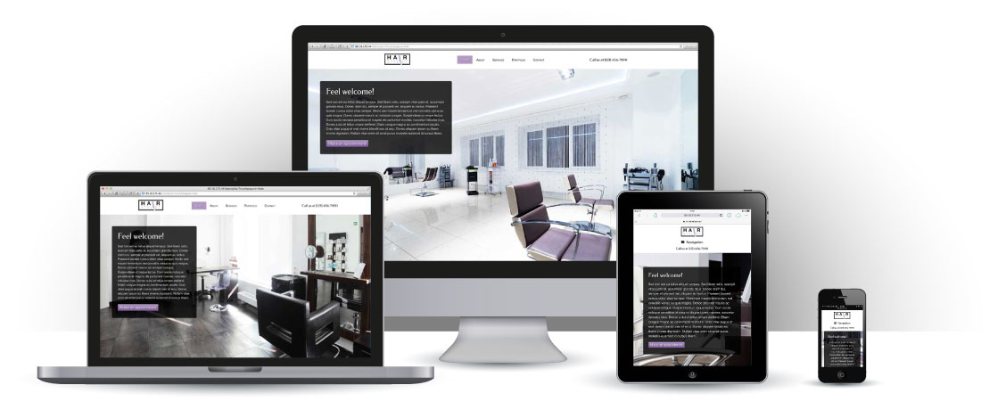 mobile responsive Hair Stylist WordPress Theme