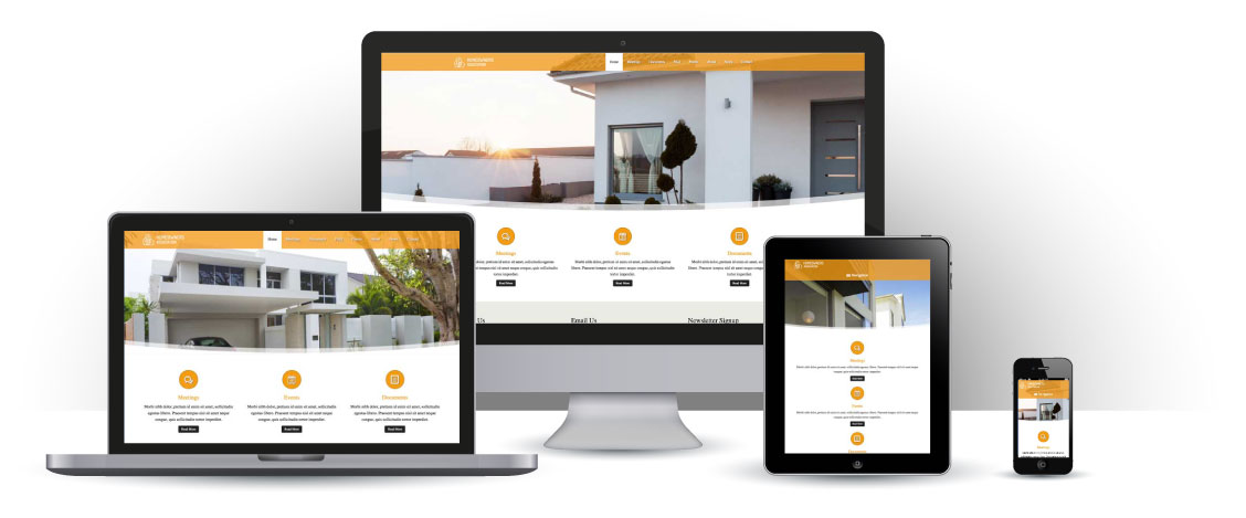 mobile responsive Homeowners Association WordPress Theme