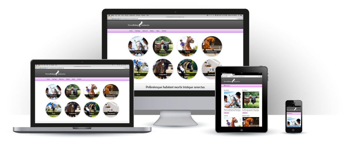 mobile responsive Horse Riding Instructor WordPress Theme