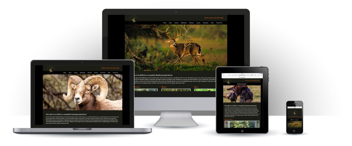 mobile responsive Hunting Outfitters WordPress Theme
