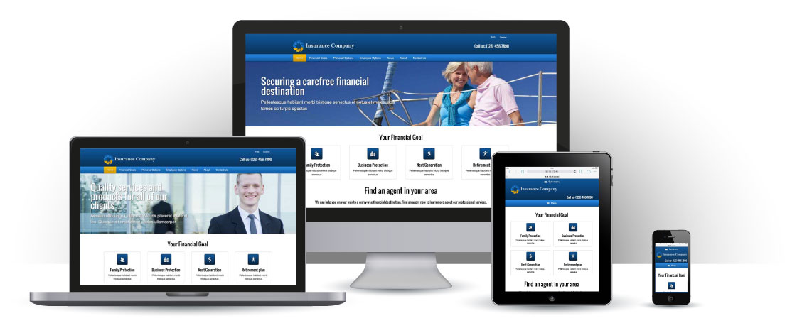 mobile responsive Insurance Company WordPress Theme