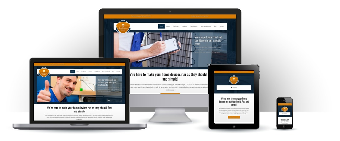 mobile responsive Appliance Repair WordPress Theme
