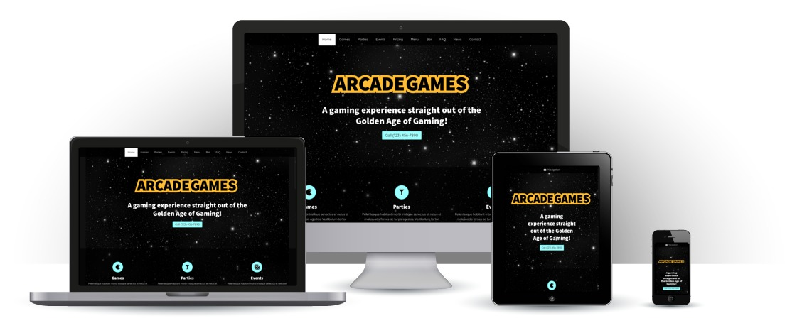 mobile responsive Arcade Games WordPress Theme