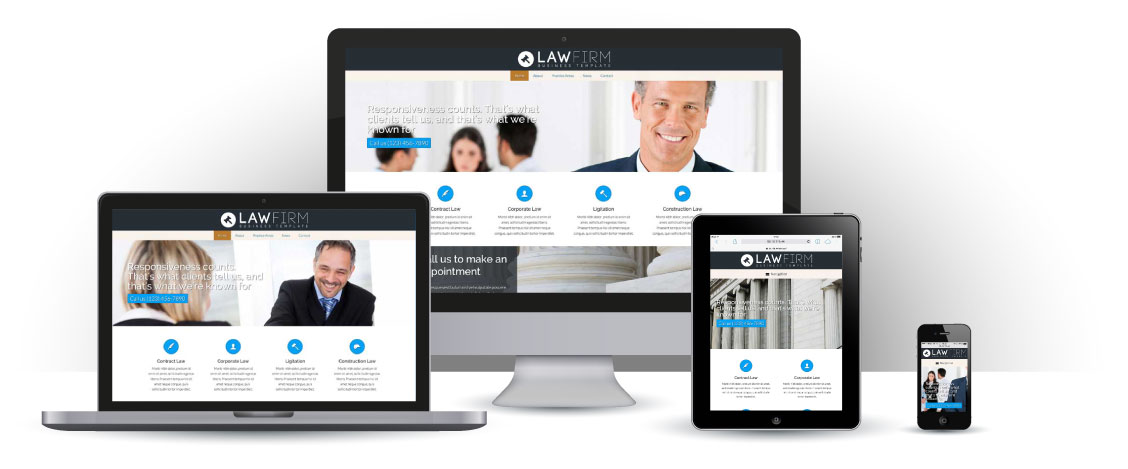 mobile responsive Lawyer WordPress Theme