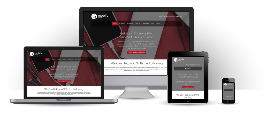 mobile responsive Mobile Repair WordPress Theme