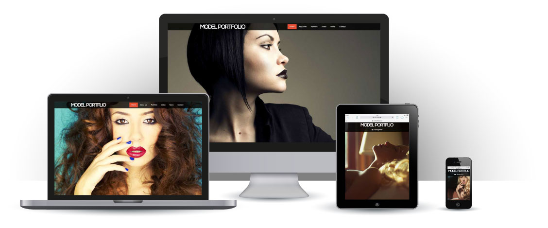 mobile responsive Modellen Portfolio WordPress Thema