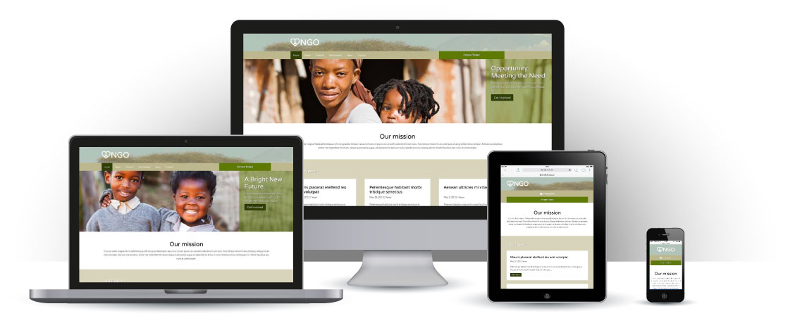 mobile responsive NGO WordPress Thema