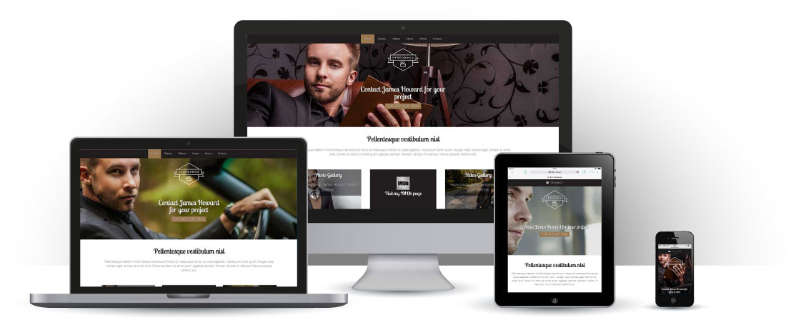 mobile responsive Performer WordPress Thema