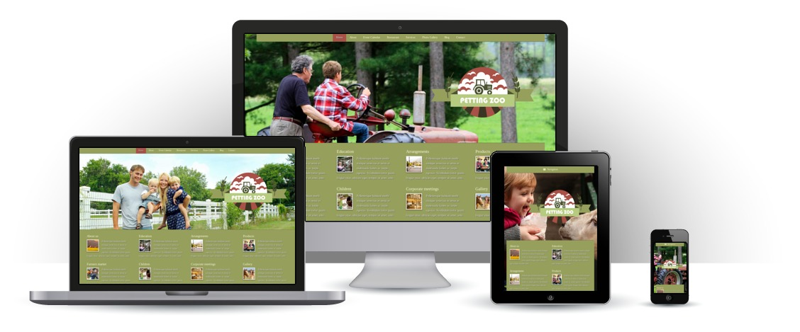 mobile responsive Petting Zoo WordPress Theme