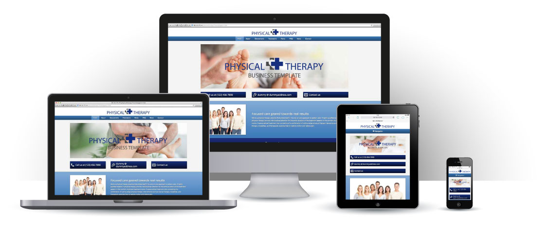 mobile responsive Physical Therapy WordPress Theme