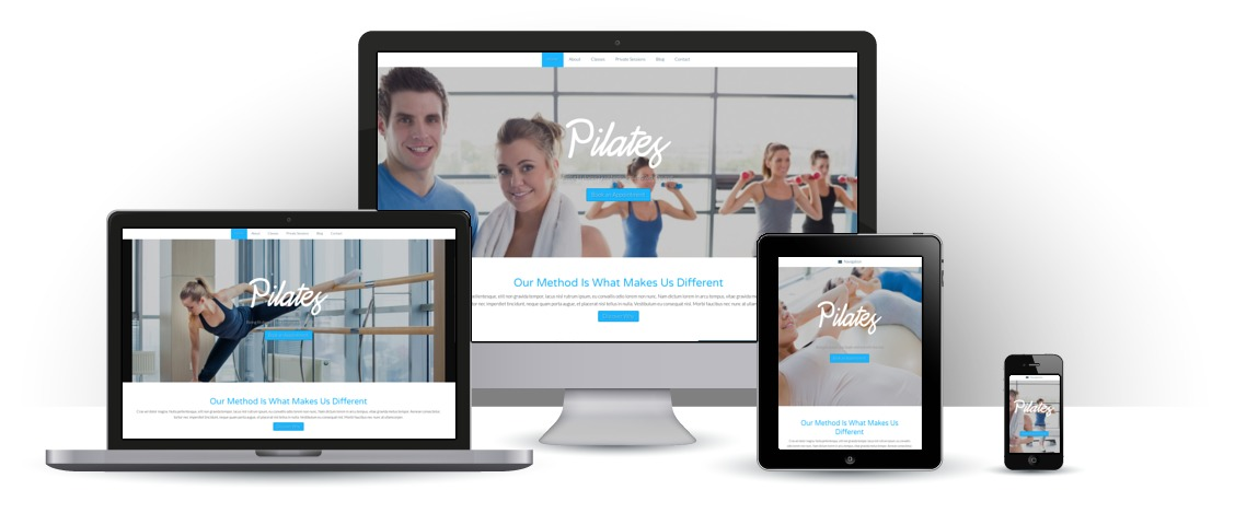mobile responsive Pilates WordPress Theme