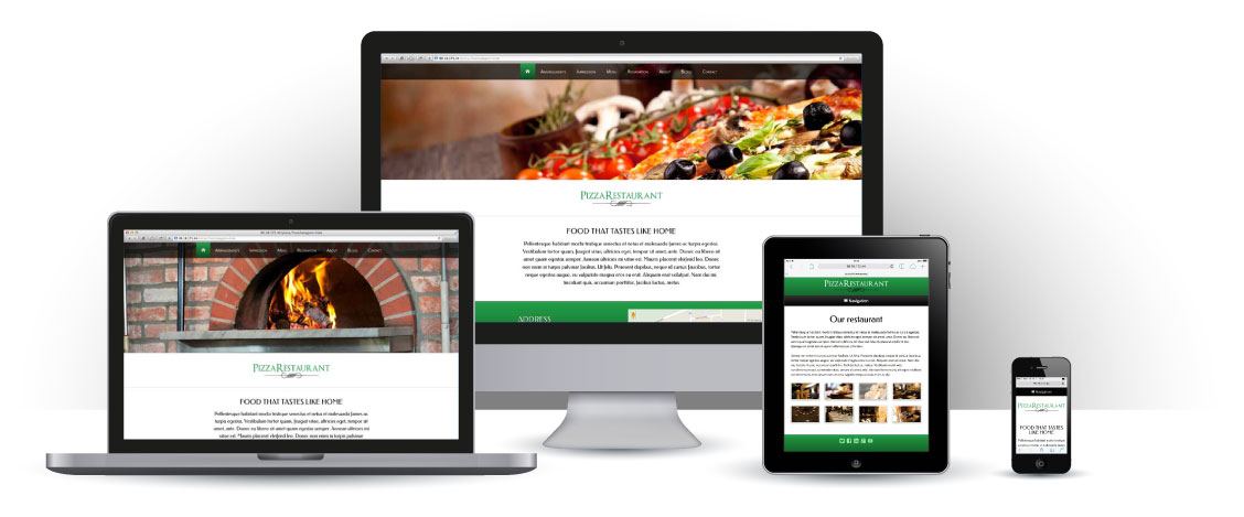 mobile responsive Pizza WordPress Thema