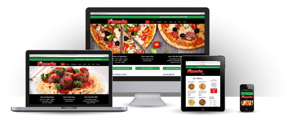 mobile responsive Pizzeria WordPress Theme