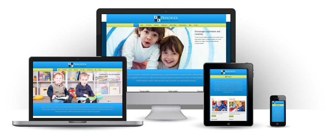 mobile responsive Preschool WordPress Theme