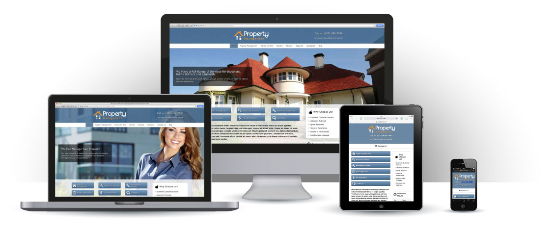 mobile responsive Real Estate WordPress Theme