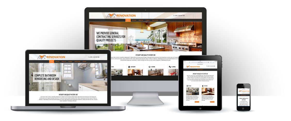 mobile responsive Renovation WordPress Theme
