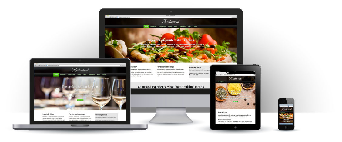 mobile responsive Restaurant WordPress Theme