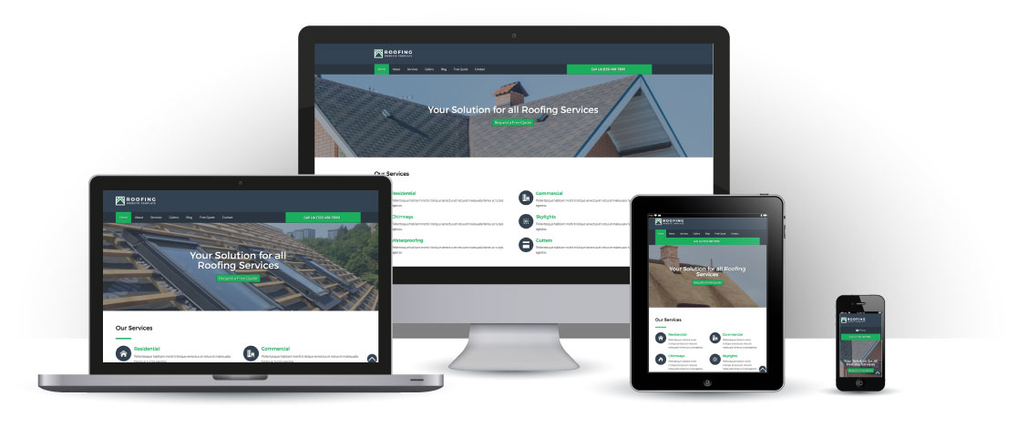 mobile responsive Roofing WordPress Theme