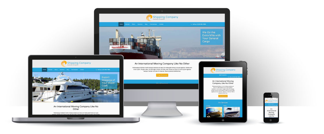 mobile responsive Shipping Company WordPress Theme