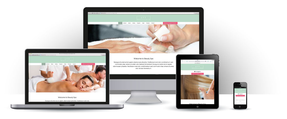 mobile responsive Beauty Spa WordPress Theme