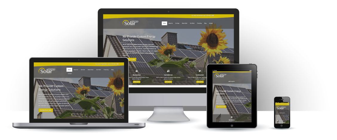 mobile responsive Zonne-energie WordPress Thema