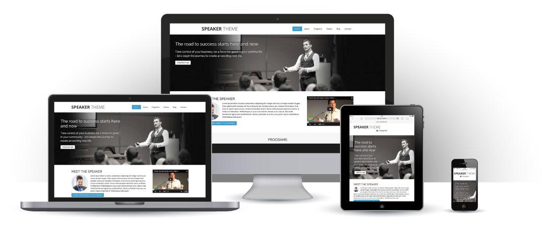 mobile responsive Spreker WordPress Thema