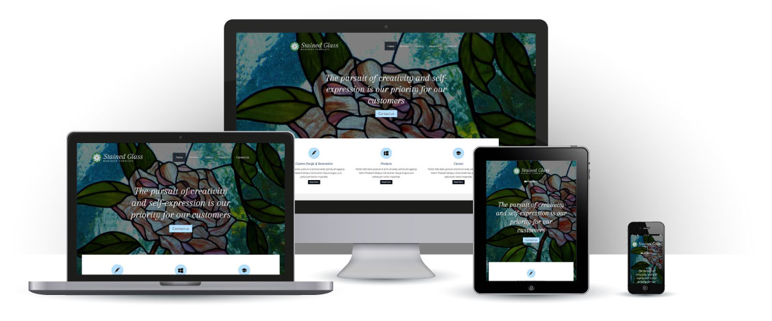 mobile responsive Stained Glass WordPress Theme