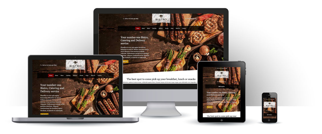 mobile responsive Bistro WordPress Thema