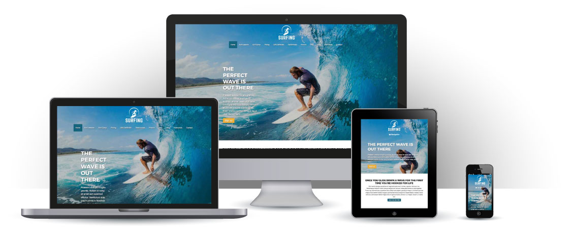 mobile responsive Surfing WordPress Theme