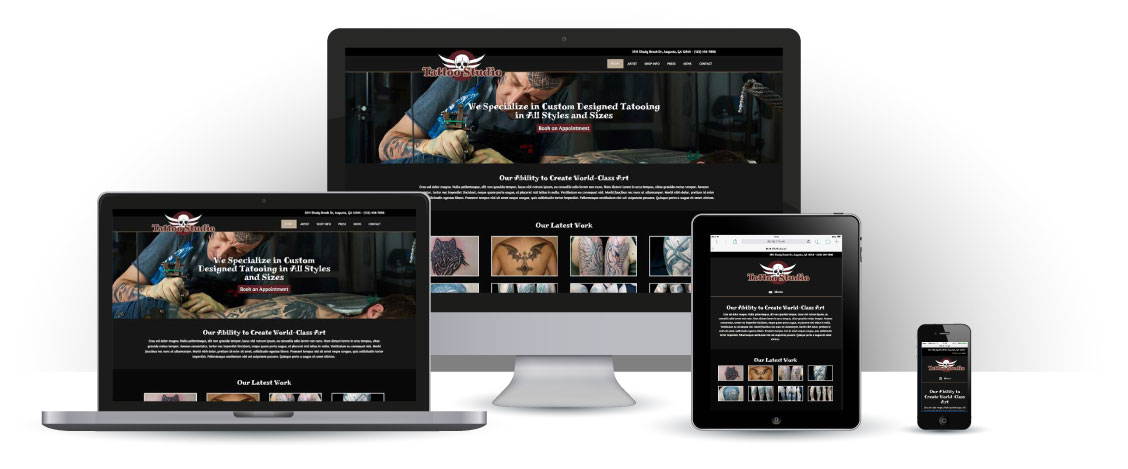 mobile responsive Tattoo Studio WordPress Thema