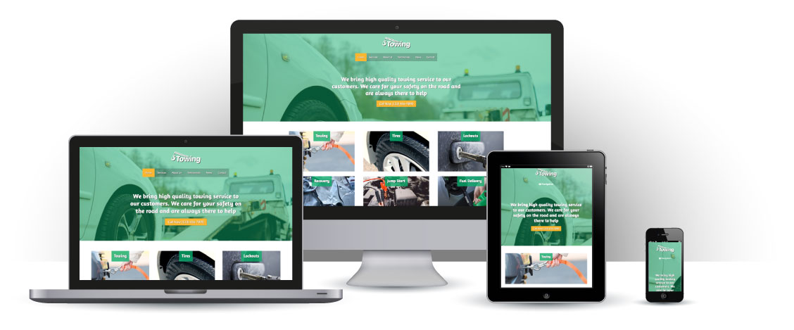 mobile responsive Towing WordPress Theme
