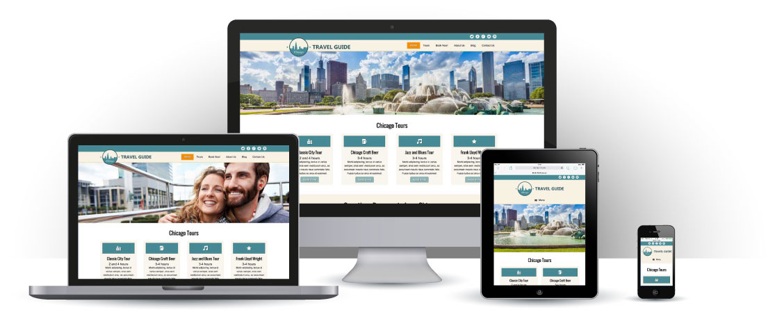 mobile responsive Travel Guide WordPress Theme
