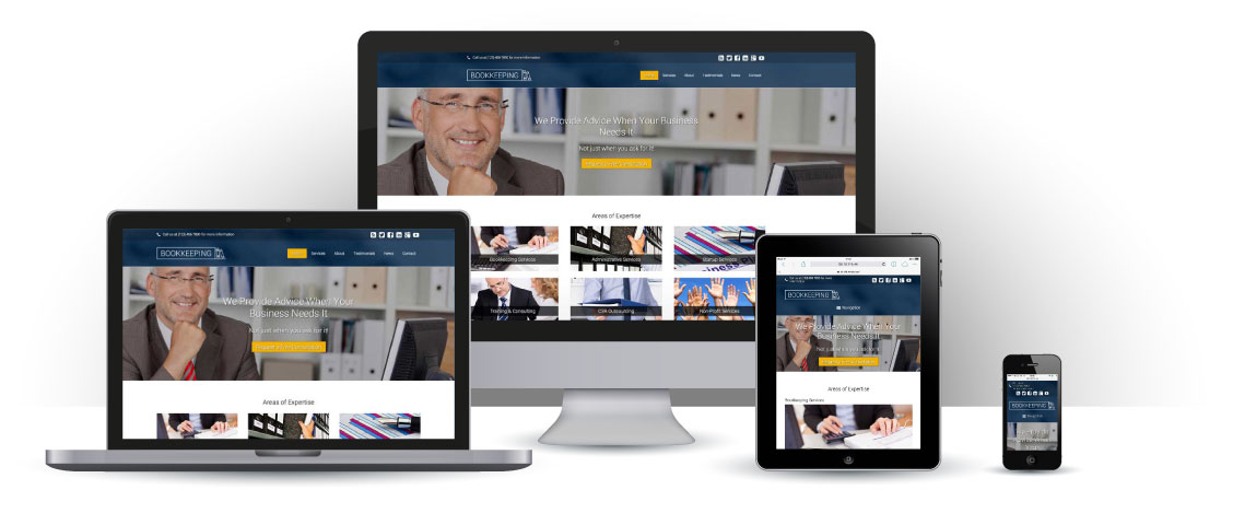 mobile responsive Boekhouding WordPress Thema