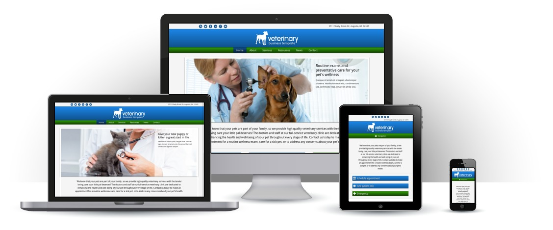 mobile responsive Veterinary WordPress Theme