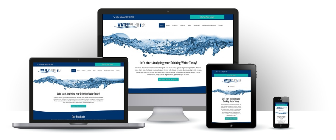 mobile responsive Waterzuiveraar WordPress Thema