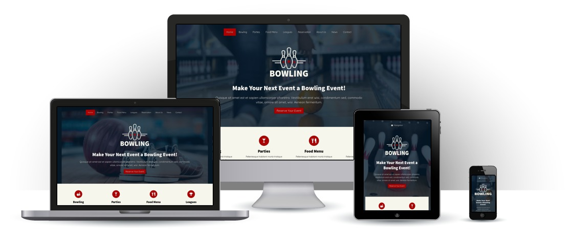 mobile responsive Bowling WordPress Thema