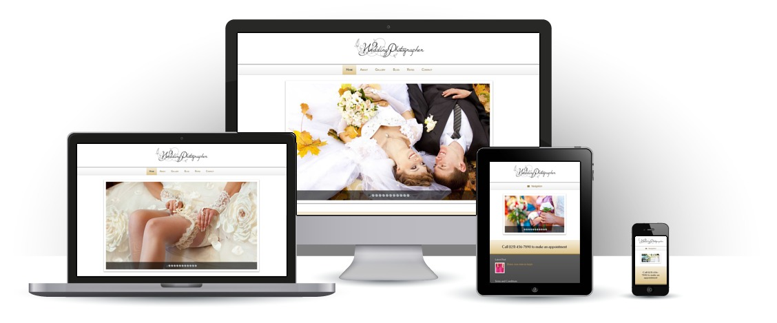 mobile responsive Wedding Photographer WordPress Theme