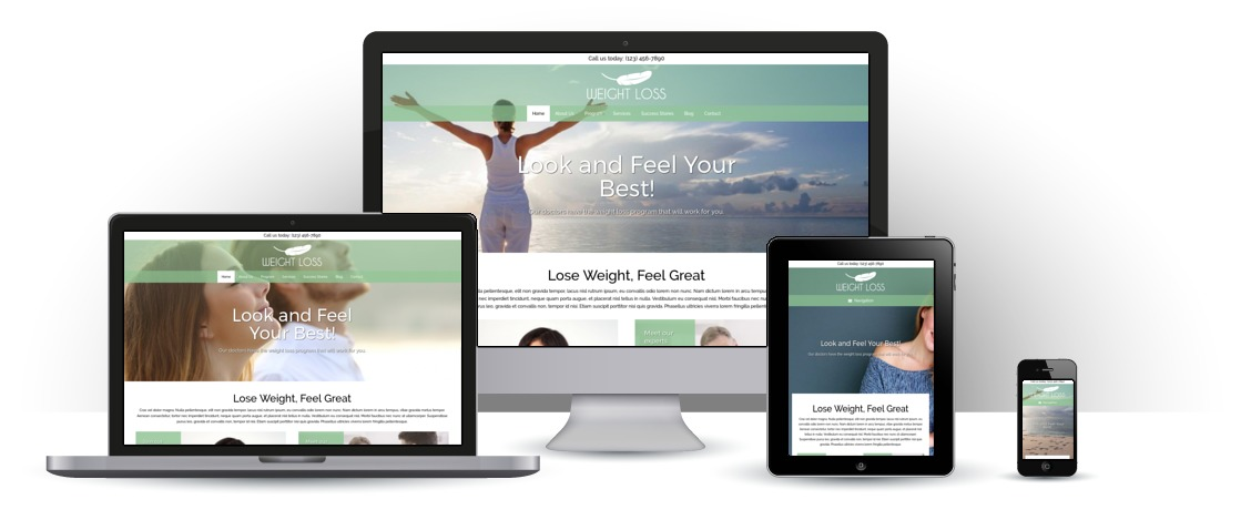 mobile responsive Weight Loss WordPress Theme