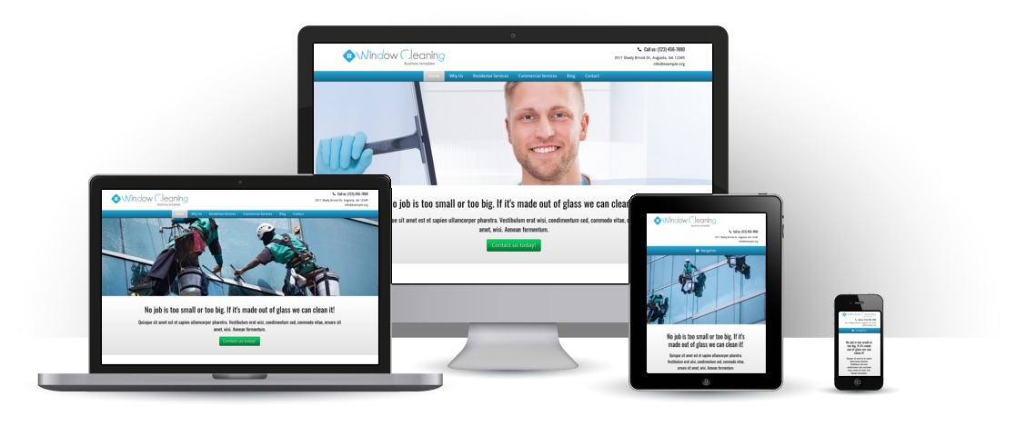 mobile responsive Window Cleaning WordPress Theme