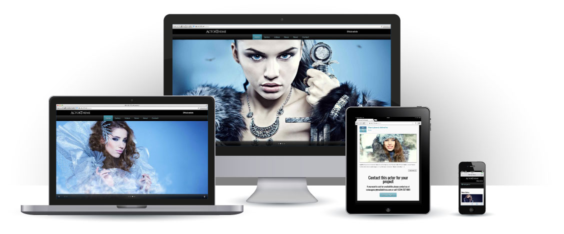 mobile responsive Acteur WordPress Thema