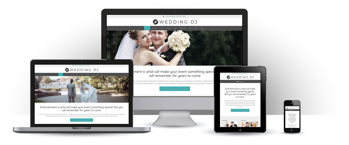 mobile responsive Wedding DJ WordPress Theme