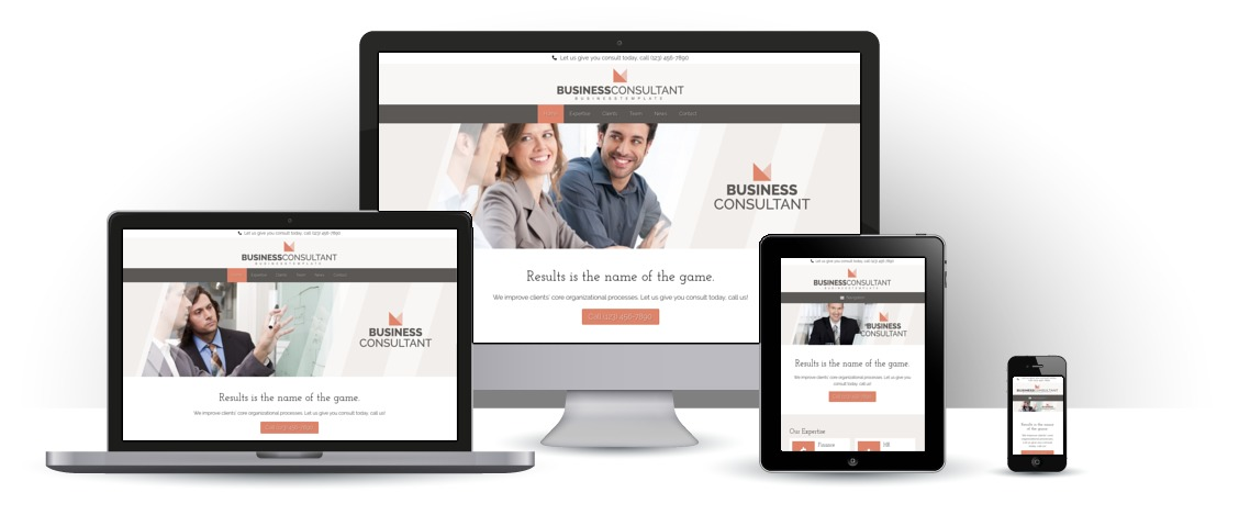 mobile responsive Business Consultant WordPress Theme
