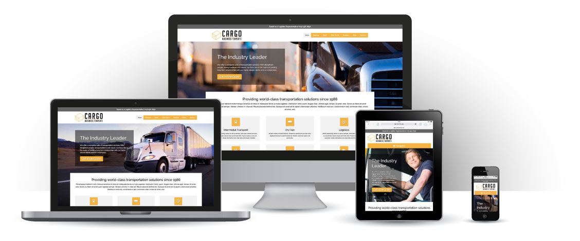 mobile responsive Cargo WordPress Theme