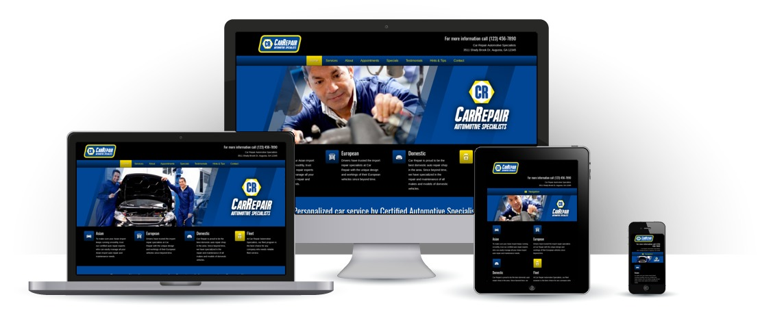 mobile responsive Car Repair WordPress Theme