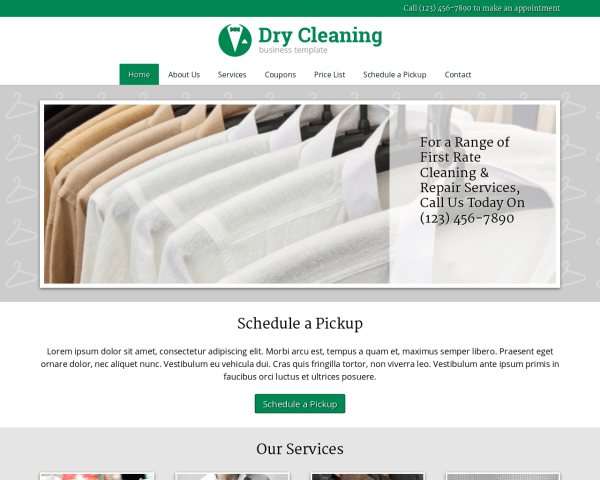 Dry Cleaning WordPress Theme thumbnail