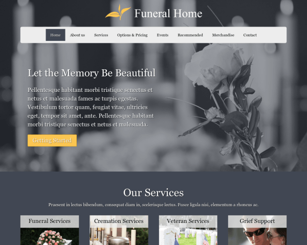 Funeral Home Website Template U2013 Mobile Funeral Home Theme U2013 Best WordPress  Themes To Build Websites For Small Businesses