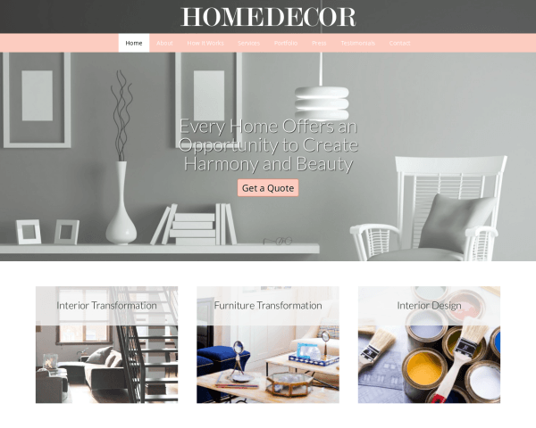 Home Decor WordPress Theme – Template For Interior Design Websites ...