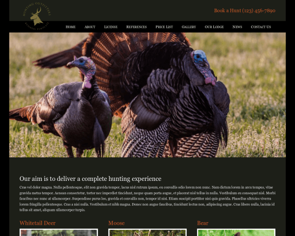 Hunting Outfitters WordPress Theme thumbnail