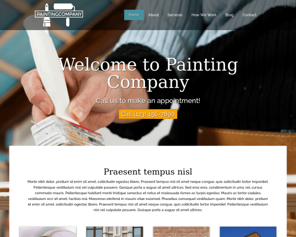 Painting Company Wordpress Theme - Made For Painters